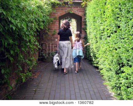 Mother And Daughter Going Out Together