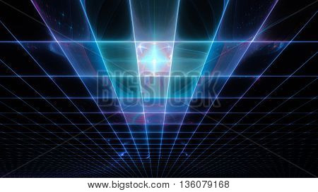 Laser protective detector. Space sky map. 3D illustration. Sacred geometry. Mysterious psychedelic relaxation pattern. Fractal abstract texture. Digital artwork graphic design astrology alchemy magic.