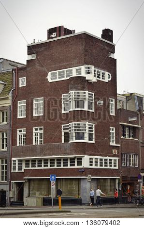 Red Brick Corner Building