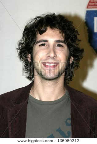 Josh Groban at the Celebrity Gala Opening For National Tour Of Movin' Out held at the Pantages Theatre in Hollywood, USA on September 17, 2004.