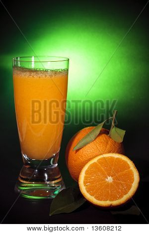 Natural Orange Juice, Art Background