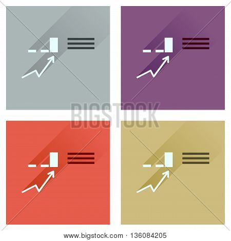 Concept of flat icons with  long shadow infographics Business