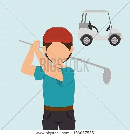 golf equipment design, vector illustration eps10 graphic