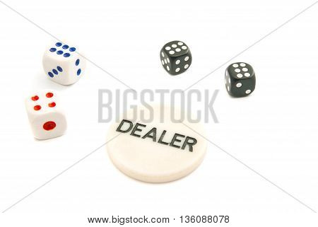 Four Dices And Chips