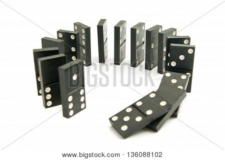 Black Plastic Dominoes Chips