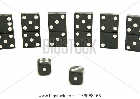 Dominoes Chips And Dices