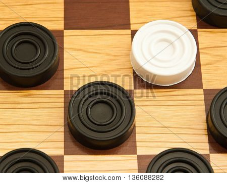 White And Black Checkers