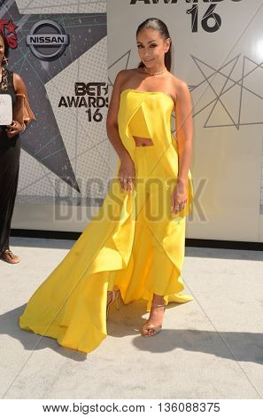 LOS ANGELES - JUN 26:  Mya Harrison at the BET Awards Arrivals at the Microsoft Theater on June 26, 2016 in Los Angeles, CA
