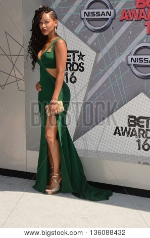LOS ANGELES - JUN 26:  Meagan Good at the BET Awards Arrivals at the Microsoft Theater on June 26, 2016 in Los Angeles, CA