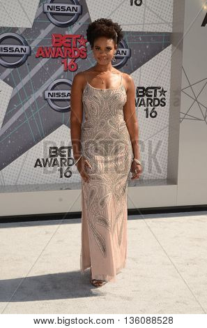 LOS ANGELES - JUN 26:  Kimberly Elise at the BET Awards Arrivals at the Microsoft Theater on June 26, 2016 in Los Angeles, CA