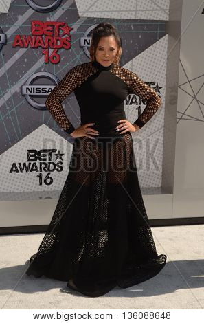 LOS ANGELES - JUN 26:  Tisha Campbell-Martin at the BET Awards Arrivals at the Microsoft Theater on June 26, 2016 in Los Angeles, CA