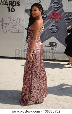 LOS ANGELES - JUN 26:  Gabrielle Union at the BET Awards Arrivals at the Microsoft Theater on June 26, 2016 in Los Angeles, CA