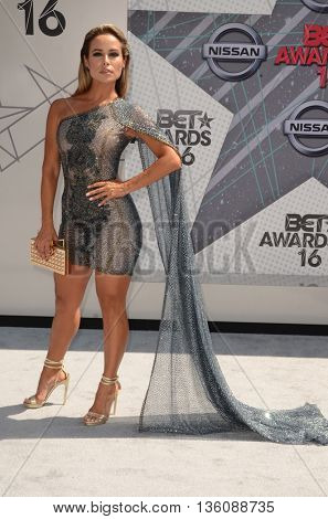 LOS ANGELES - JUN 26:  Zulay Henao at the BET Awards Arrivals at the Microsoft Theater on June 26, 2016 in Los Angeles, CA