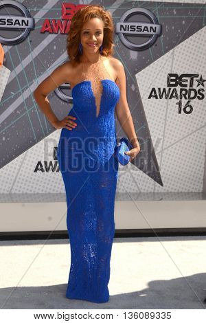 LOS ANGELES - JUN 26:  Chrystee Pharris at the BET Awards Arrivals at the Microsoft Theater on June 26, 2016 in Los Angeles, CA