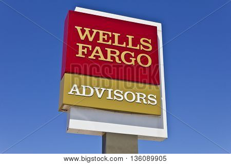 Indianapolis - Circa June 2016: A Wells Fargo Advisors Branch. Wells Fargo is a Provider of Financial Services