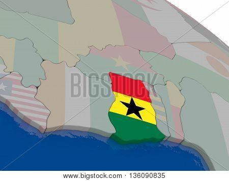 Ghana With Flag