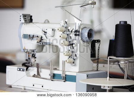 Sewing Machine In Factory