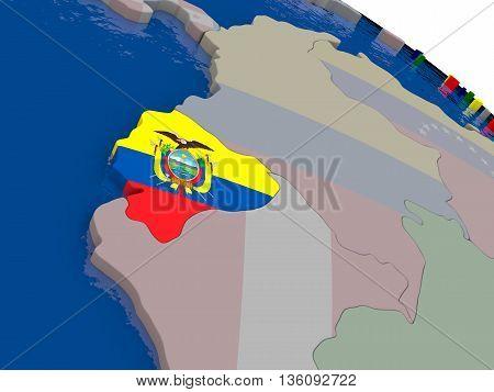 Ecuador With Flag