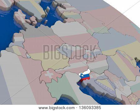 Slovenia With Flag