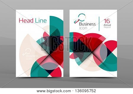 A4 annual report cover. Presentation book or magazine cover, brochure business layout