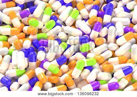 Medication Capsules Closeup