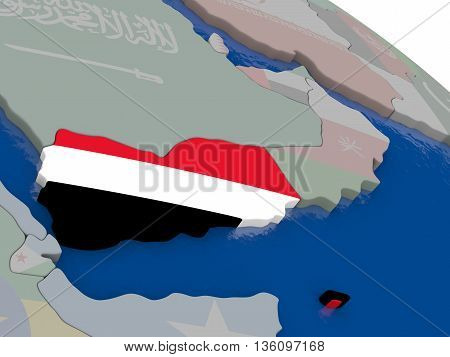 Yemen With Flag