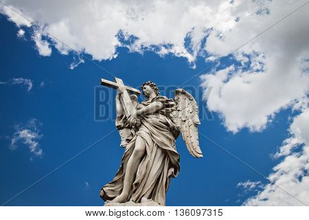 Sculpture on the bridge of Sant'angelo in Rome