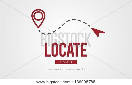 Locate Location Direction Destination Position Concept
