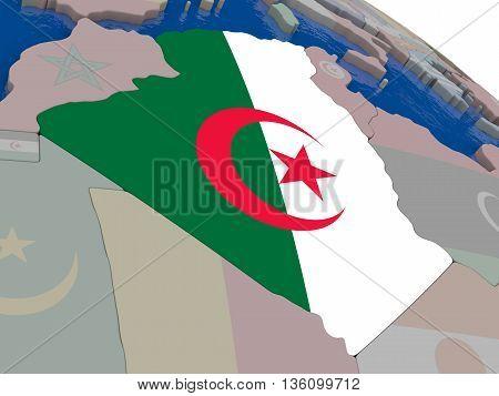 Algeria With Flag
