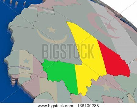 Mali With Flag
