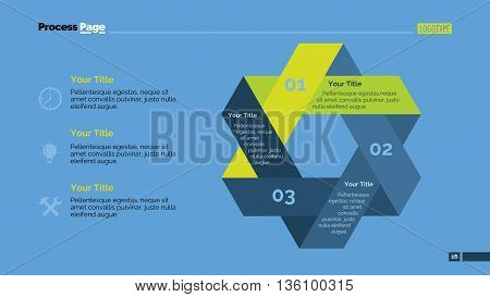 Process chart slide template. Business data. Graph, diagram, design. Creative concept for infographic, templates, presentation, report. Can be used for topics like management, banking, finance.