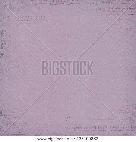 Faded musical border on textured mauve background