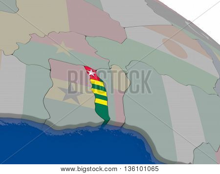 Togo With Flag