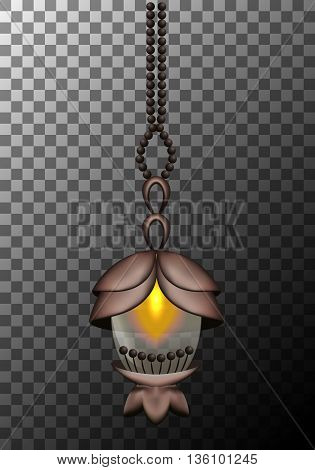 Vector lantern isolated on a gray background eps10