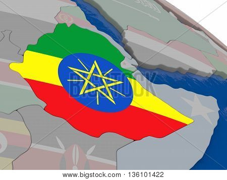 Ethiopia With Flag