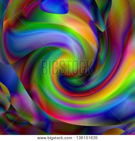 Abstract coloring background of the abstract gradient,with visual wave and twirl effects in rainbow
