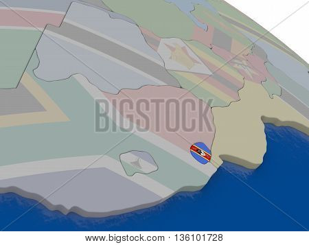 Swaziland With Flag