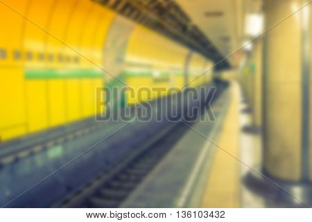 Abstract blur Subway tunnel
