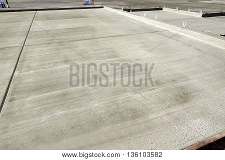 New Home Building Construction Concrete Slab