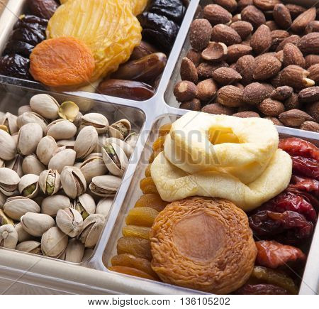 Dried Fruits and nuts arrangement