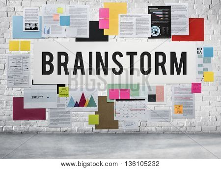 Brainstorm Analysis Ideas Meeting Planning Solution Concept