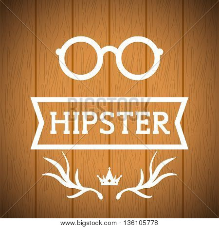 Hipster retro and vintage style graphic design, vector illustration
