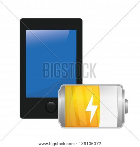 Battery icons graphic design, vector illustration eps10