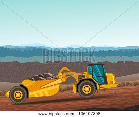 Wheel Tractor-scraper For Earthwork Operations
