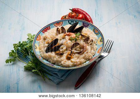 sea fruit risotto