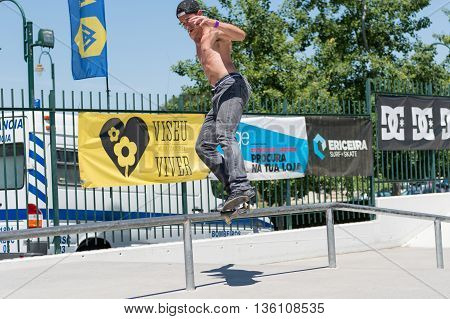 Claudio Costa During The Dc Skate Challenge