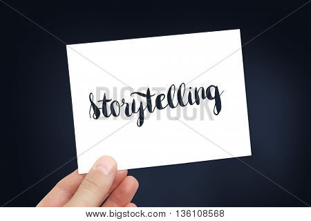 Storytelling concept