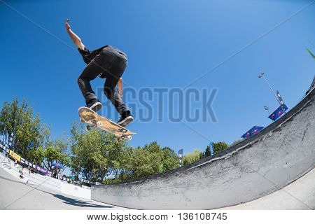 Joao Santos During The Dc Skate Challenge