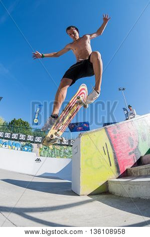 Gabriel Ribeiro During The Dc Skate Challenge