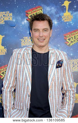 John Barrowman arrives at the 42nd Annual Saturn Awards on Wednesday, June 22, 2016 at the Castaway Restaurant in Burbank, CA.